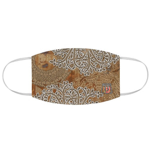 Colorful Boho Road • Dusty Road Brown Fabric Face Mask - Maui Woke