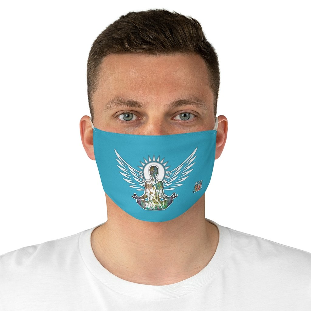 male front Wings To Fly-Blue Fabric Face Mask
