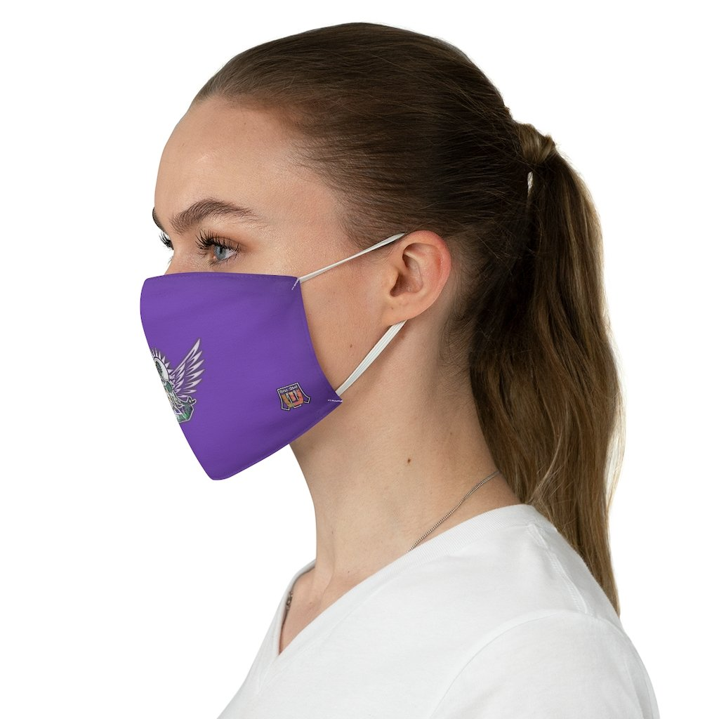female side Wings To Fly-Purple Fabric Face Mask
