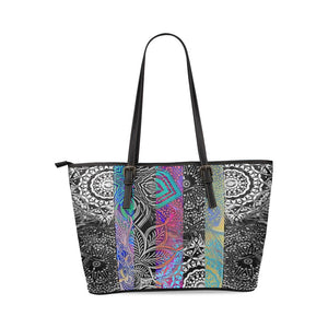 Sacred Geometry Multi Color Leather Tote Bag - Maui Woke