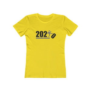 Over It! 2020 Humorous BEST MEME 2020 • Kick • Black and Gray • Women's Boyfriend Tee - Maui Woke