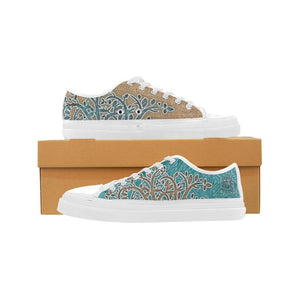 Boho Blue Women's Nonslip Canvas Shoes-SHD|Maui Woke, Bohemian design - Maui Woke