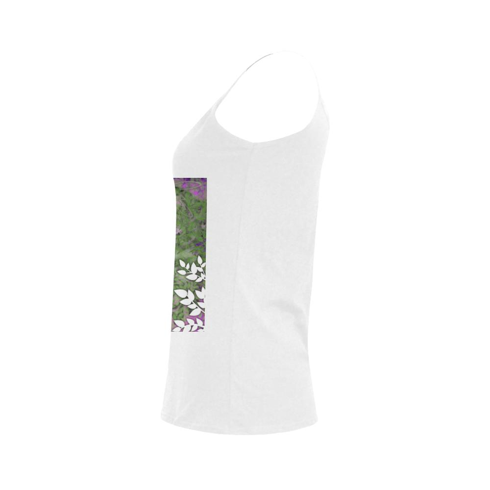 Lotus Buddha Leaves Women's Spaghetti Strap Top (Model T34), Tank Tops - Maui Woke