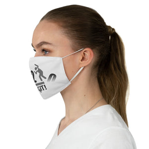 Go On GIT! 2020 • Stomp • B&W • White Fabric Face Mask - Maui Woke