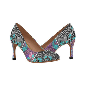 Sacred Geometry Blue Butterflies Pumps - Maui Woke
