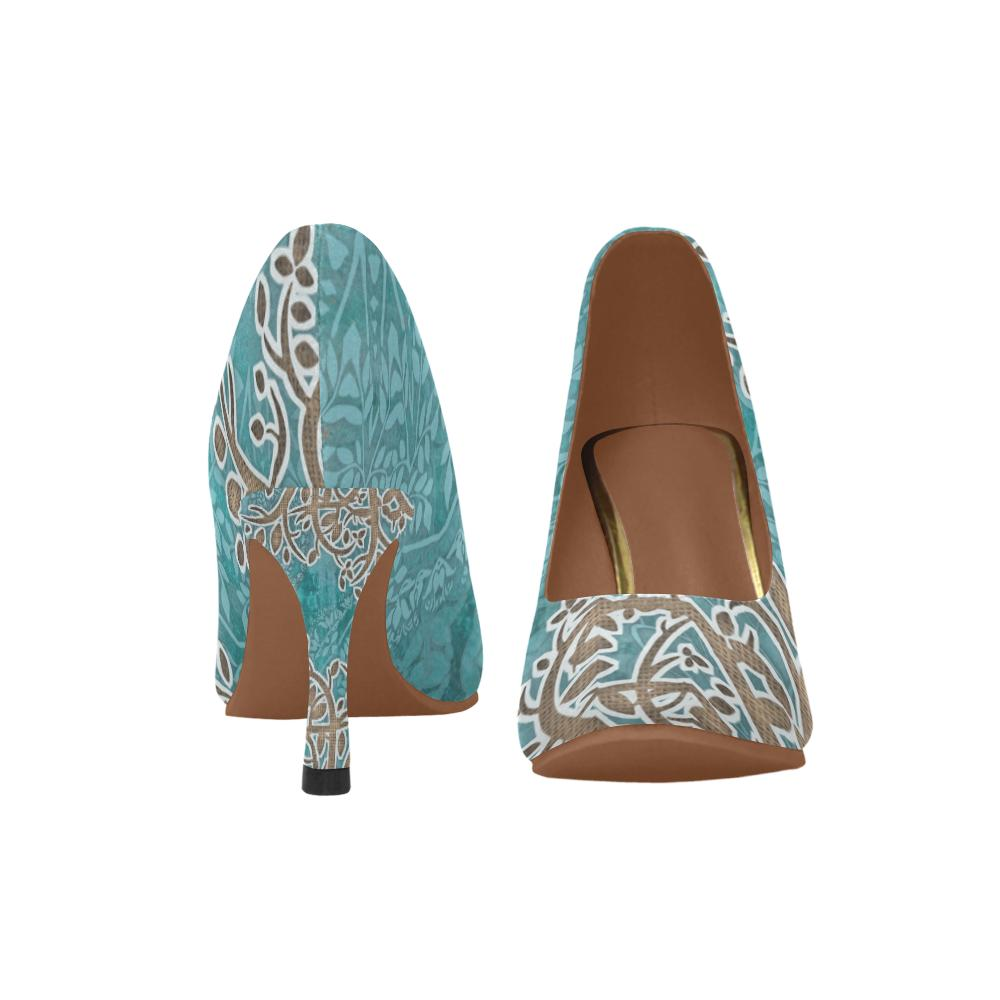 Boho Blue Pumps - Maui Woke