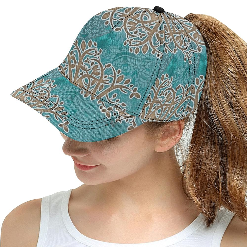Boho Blue All Over Print Snapback Cap - Maui Woke