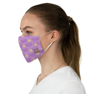 Casual Lotus Pond  • Violet Polkadot Fabric Face Mask - Maui Woke