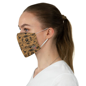 side view 3rd Eye - Brown Fabric Face Mask