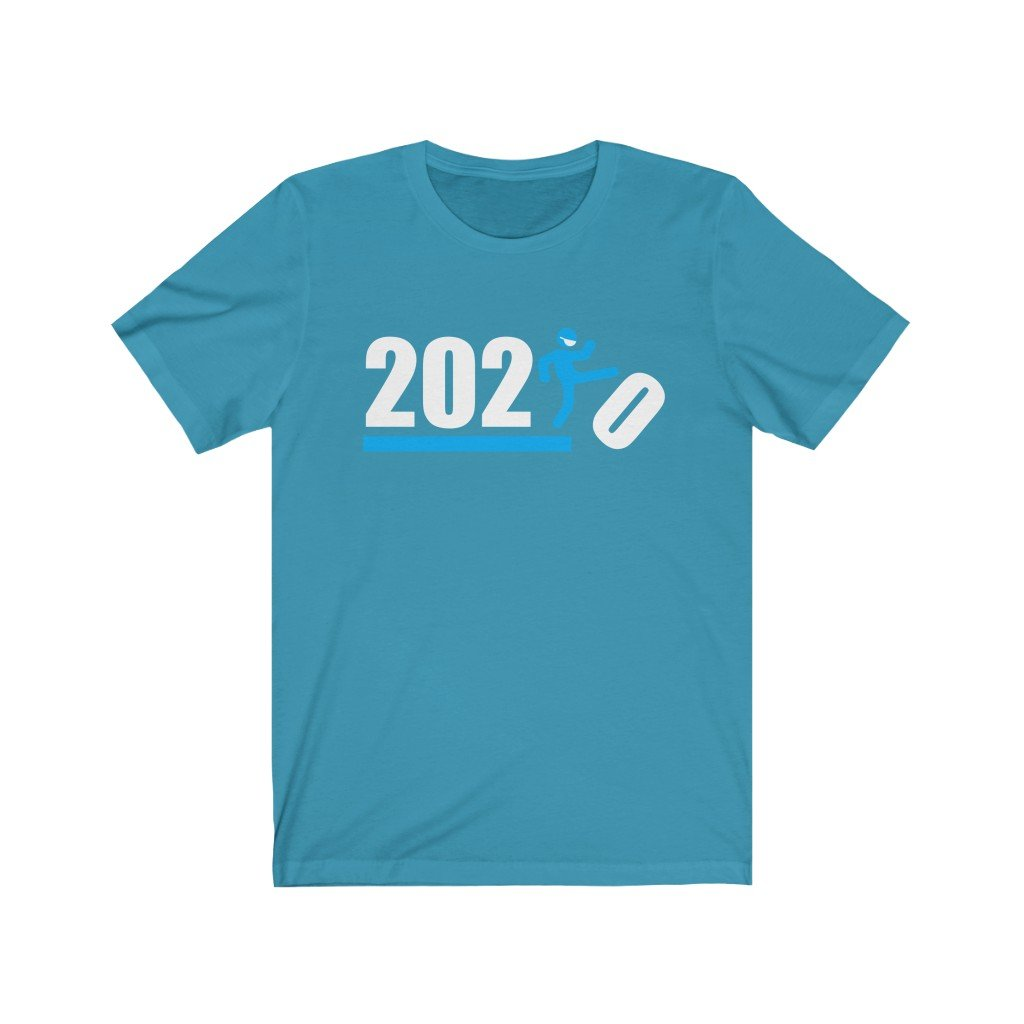 Over It 2020 🤣 Humorous BEST MEME 2020 • Kick • Blue • Unisex Jersey Short Sleeve Tee - Maui Woke