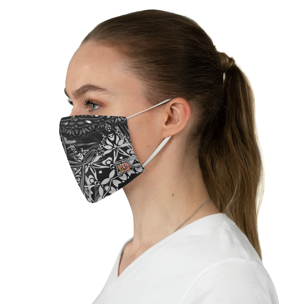 female side Sacred Geometry Inspired-Black/White Fabric Face Mask