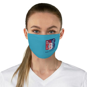 Political 7 Build Back Better Biden Harris Blue Fabric Face Mask