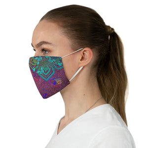 side female Sacred Geometry Inspired-Colorful Butterfly Fabric Face Mask