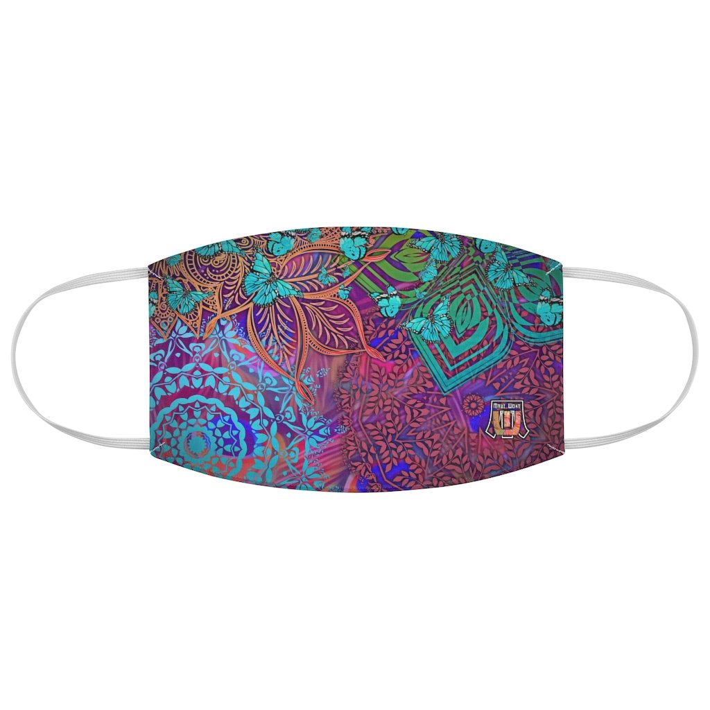 Sacred Geometry Inspired-Colorful Butterfly Fabric Face Mask
