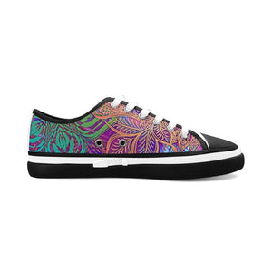 Sacred Geometry Purple Black Trim Shoes - Maui Woke