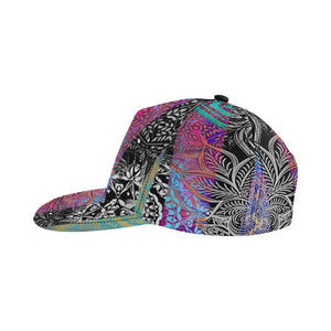 Sacred Geometry Multi Color All Over Print Snapback Cap - Maui Woke