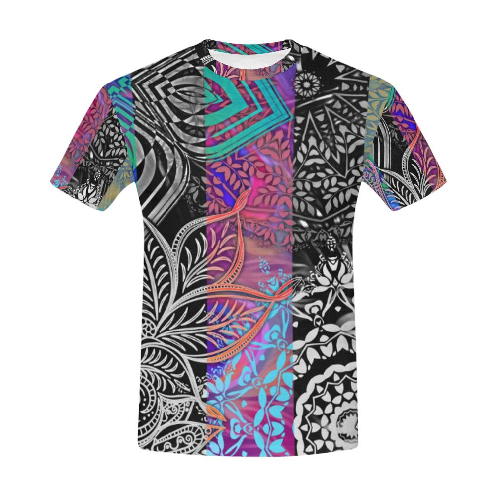 Sacred Geometry Multi Color Men's All Over Print T-shirt (USA Size) (Model T40), All-over Shirts - Maui Woke