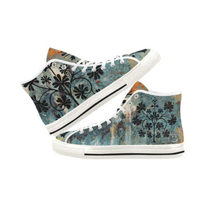 Boho Blue Vancouver High Top Canvas Shoes - Maui Woke