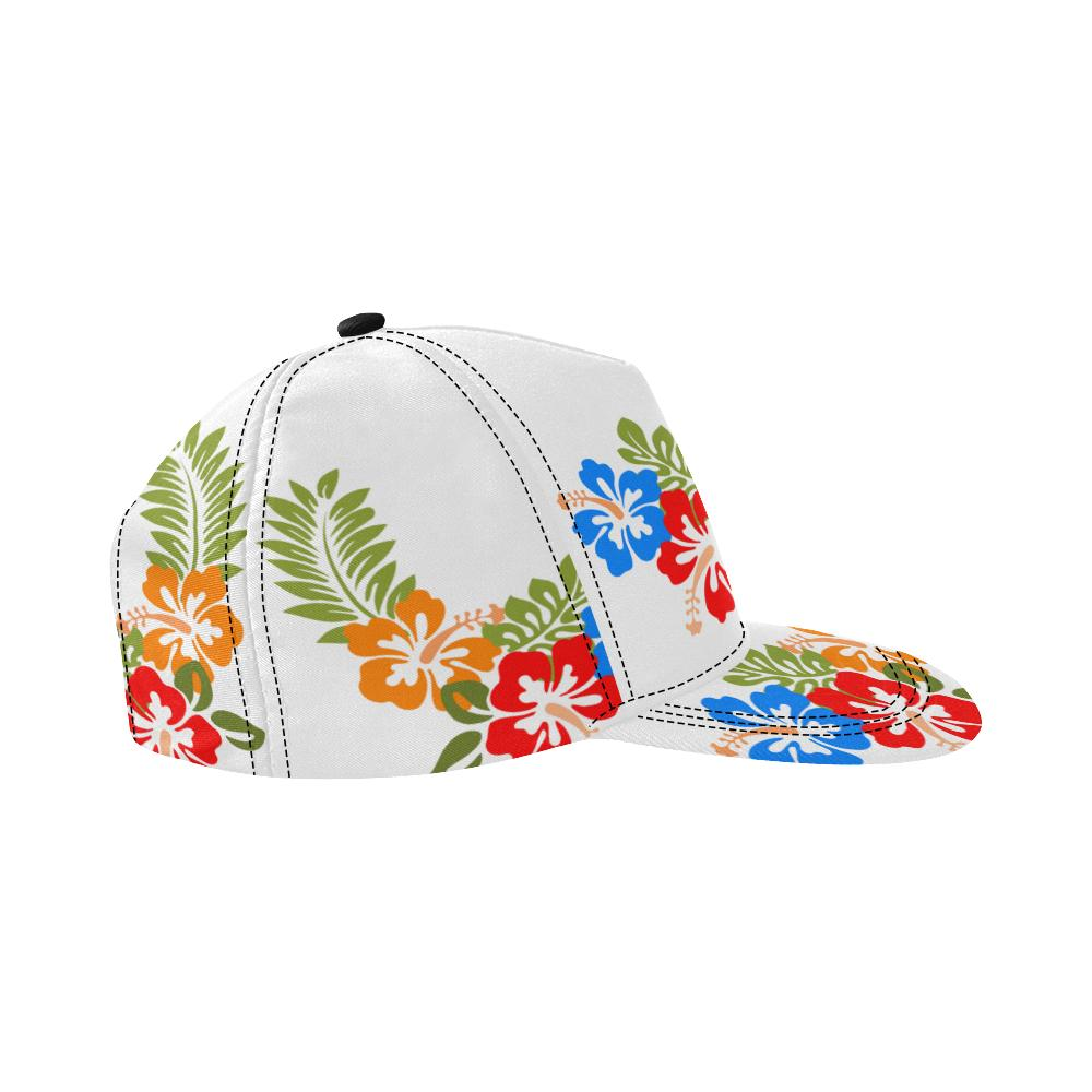Hawaiian White All Over Print Snapback Cap, Hats  - Maui Woke