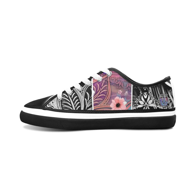 Sacred Geometry Multi Color Black Trim Canvas Shoes - Maui Woke