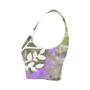 Purple Lotus Reversible Sports Bra - Maui Woke