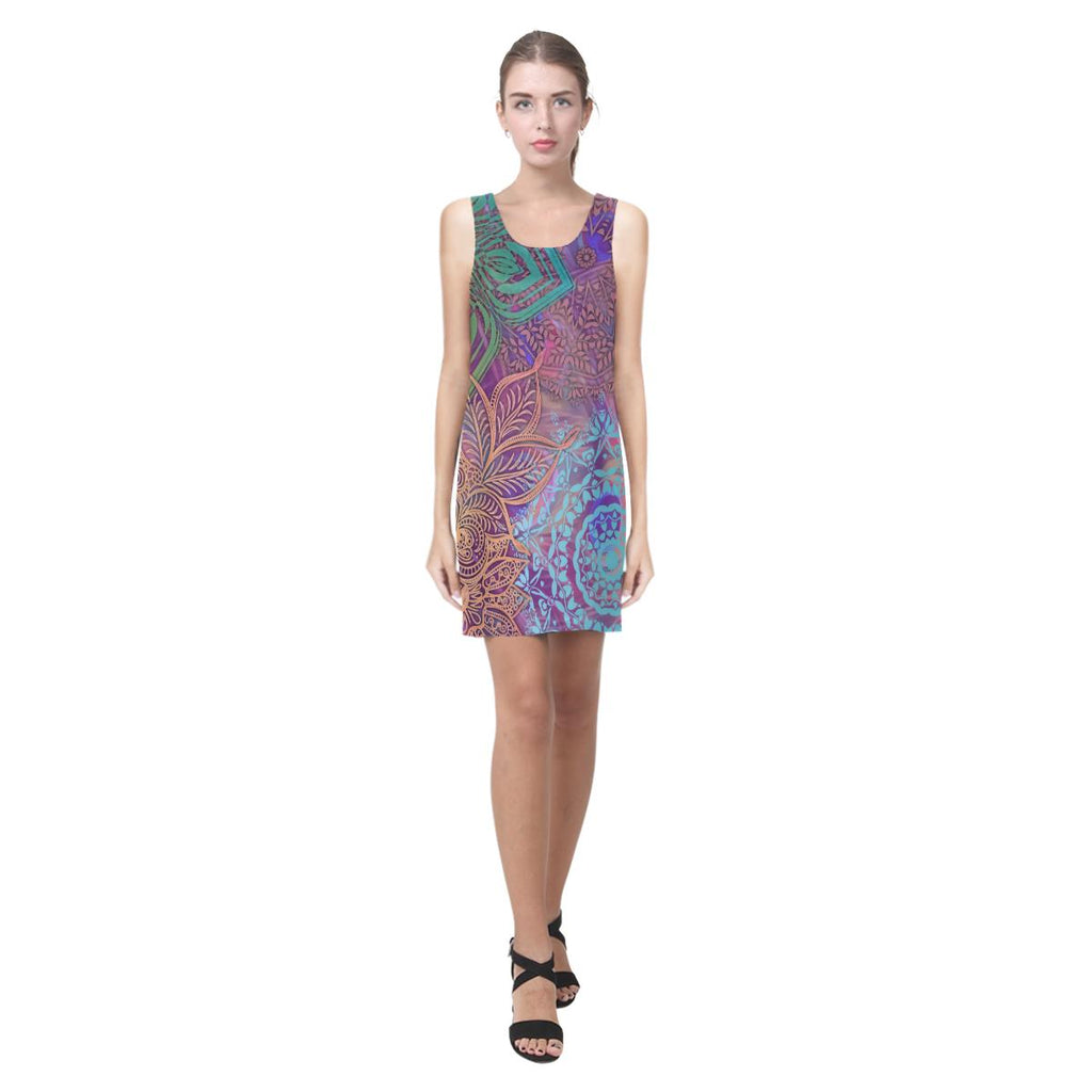Sacred Geometry Sleeveless Dress - Maui Woke