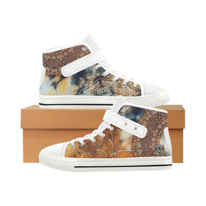 Boho Rustic Aquila Women's High Top Shoes-SHD|Maui Woke, Bohemian design - Maui Woke