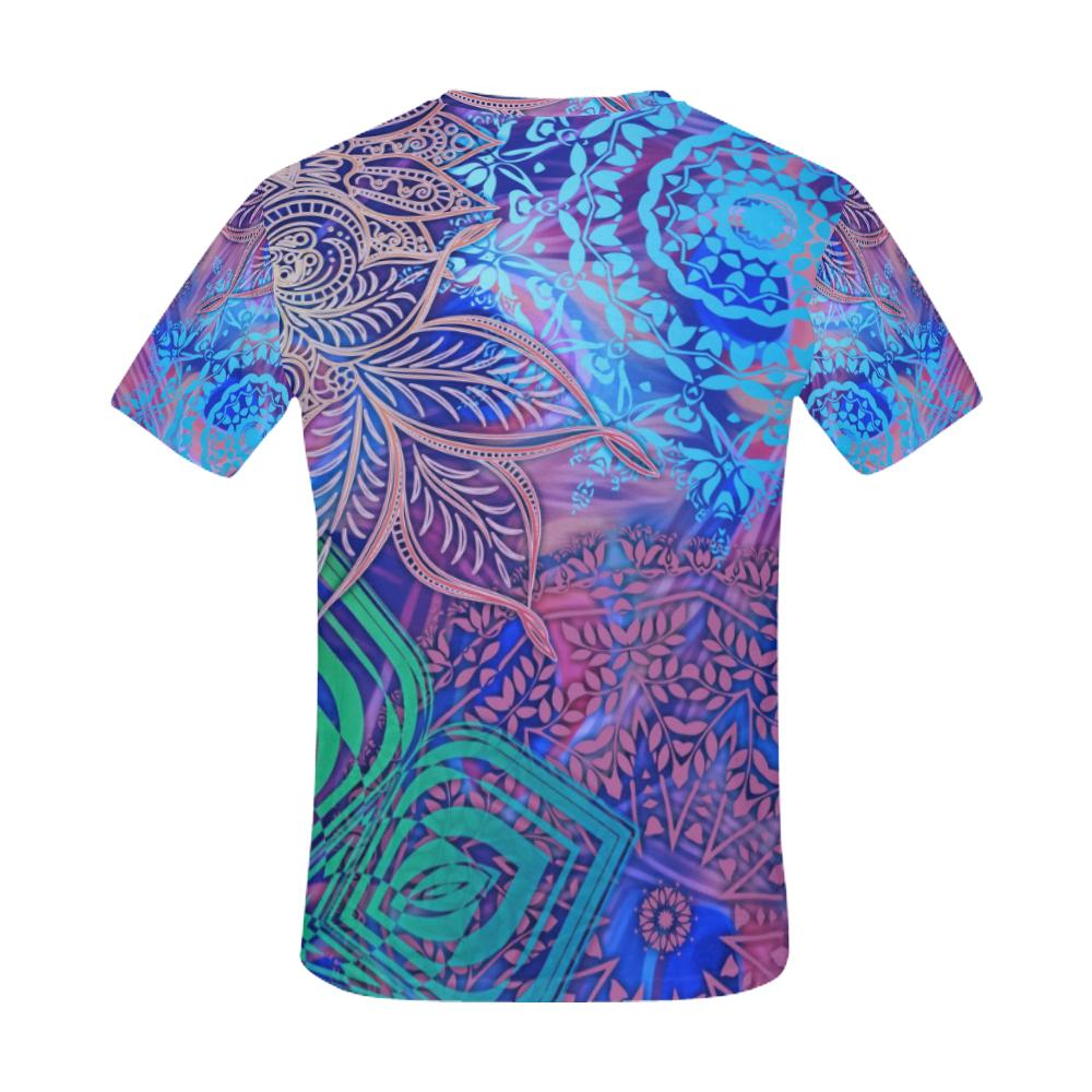 Sacred Geometry Men's All Over Print T-shirt (USA Size) (Model T40), All-over Shirts - Maui Woke