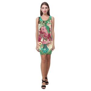shortdressganesha Vest Dress(Model D06), Dresses - Maui Woke