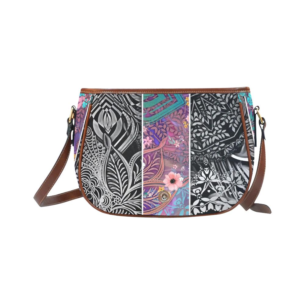 Sacred Geometry Multi Color Saddle Bag-SHD|Maui Woke, Sacred Geometry - Maui Woke