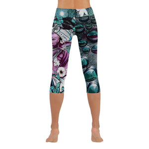 Purple Ganesha Low Rise Capri Leggings - Maui Woke