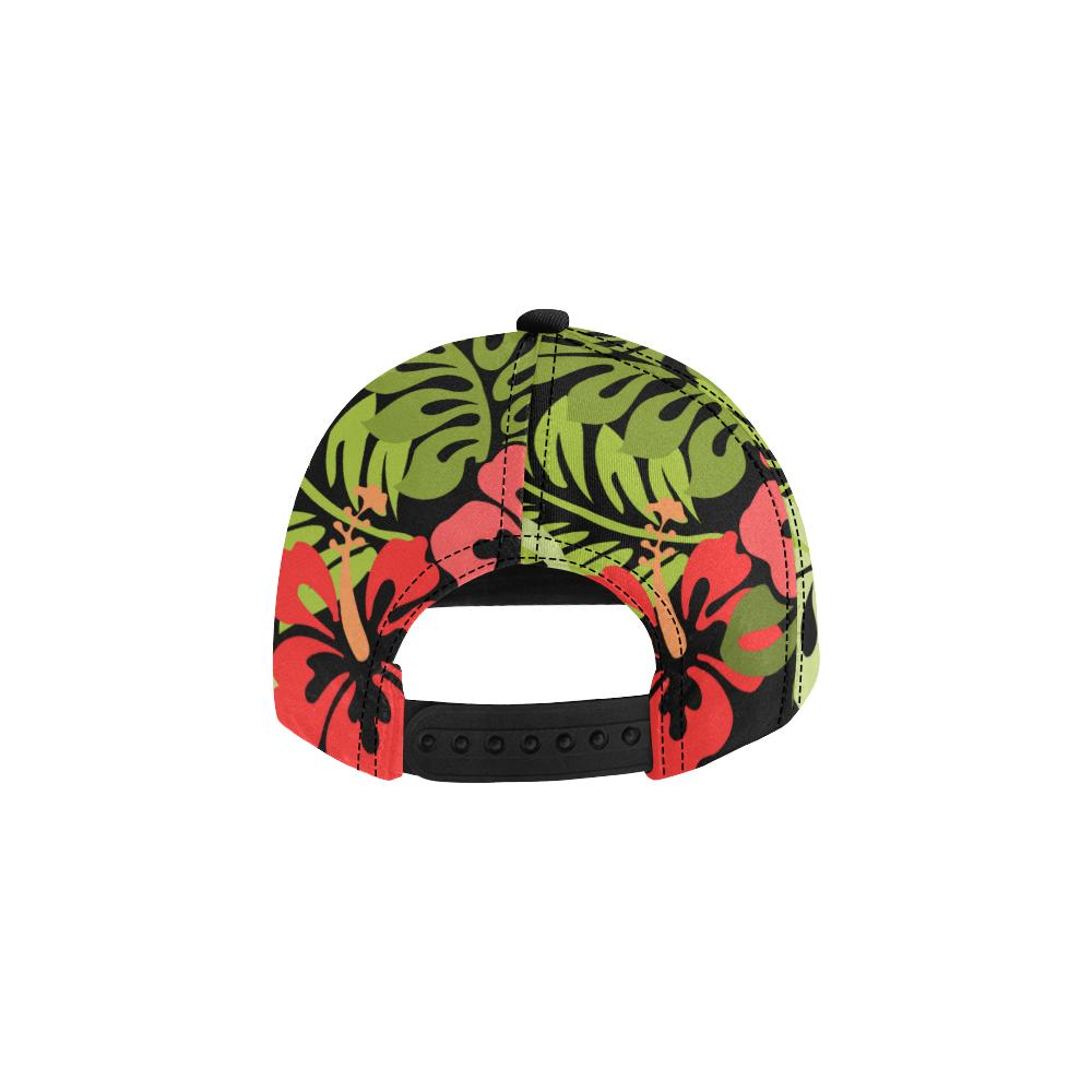 Hawaiian Black All Over Print Snapback Cap, Hats  - Maui Woke