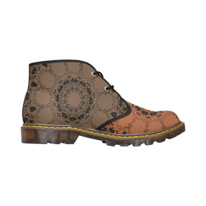 Sacred Geometry Brown Canvas Chukka Boots - Maui Woke