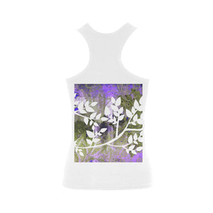 Lotus Blue Women's Shoulder-Free Tank Top (Model T35), women's shirts - Maui Woke