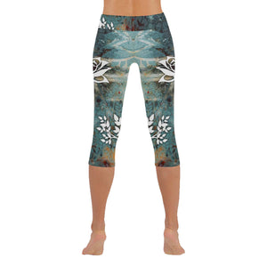 Rustic Lotus Low Rise Capri Leggings - Maui Woke