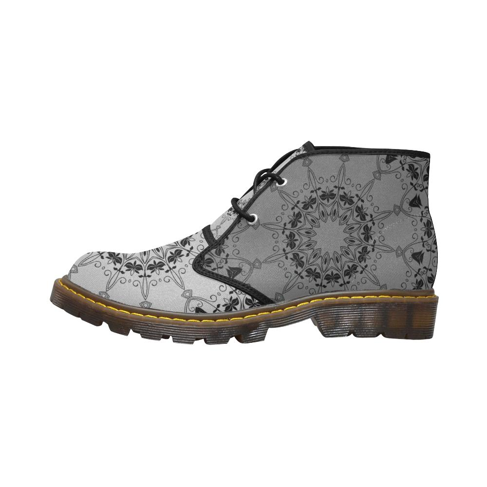 Sacred Geometry Grey Canvas Chukka Boots - Maui Woke