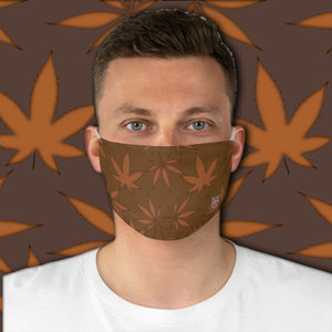 Casual Weed Smoker •  Back To Earth Brown Fabric Face Mask - Maui Woke