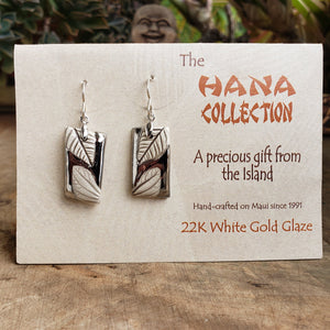 The Hana Collection White Gold Earrings-Large