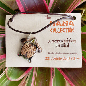 The Hana Collection White Gold Pendants-Large