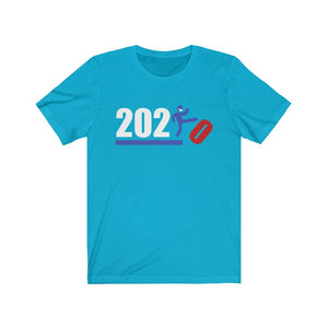 Over It! 2020 🤣 Humorous BEST MEME 2020 • Kick • Red, White & Blue • Unisex Jersey Short Sleeve Tee - Maui Woke
