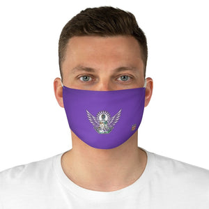male front Wings To Fly-Purple Fabric Face Mask