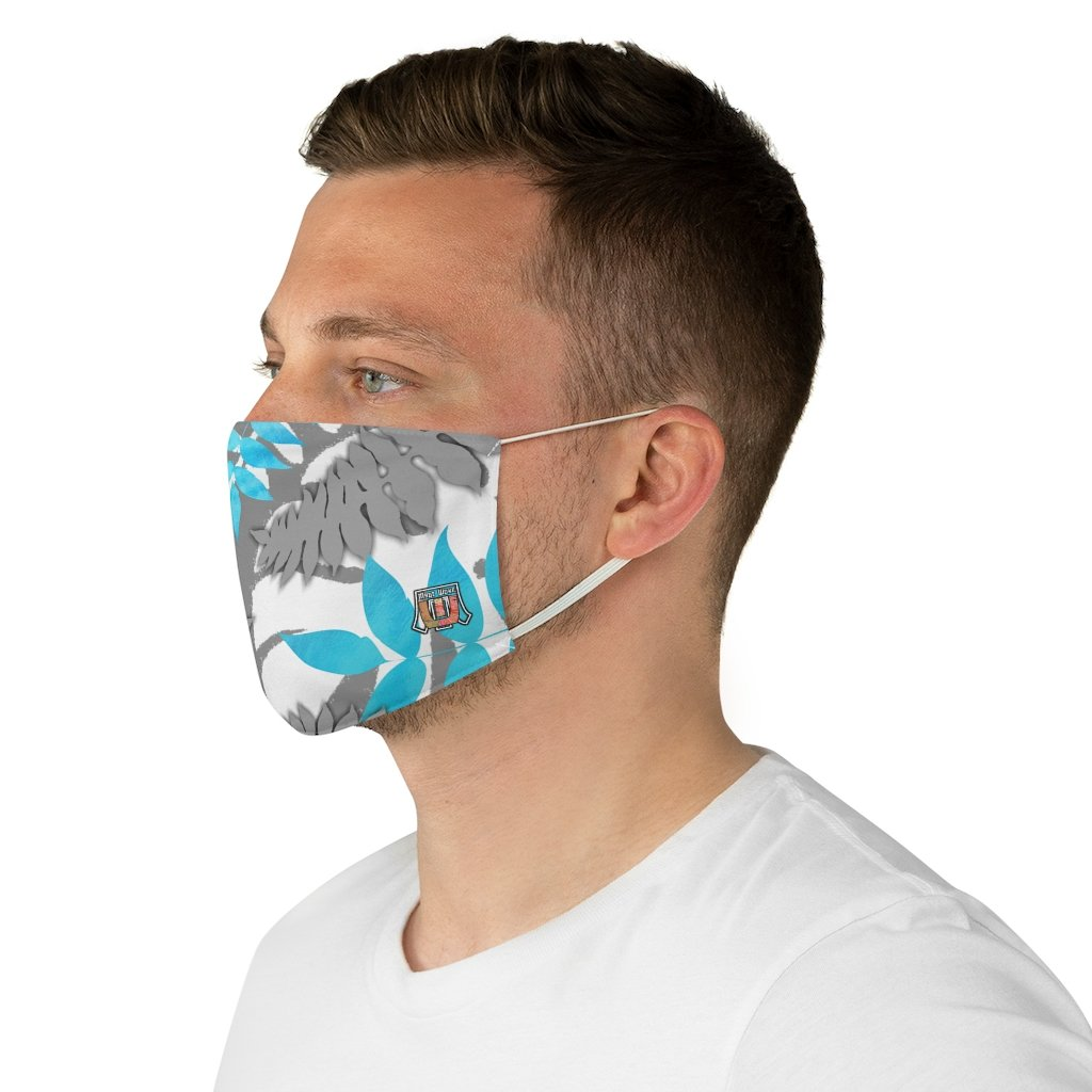 side male view Fern 3-Fabric Face Mask