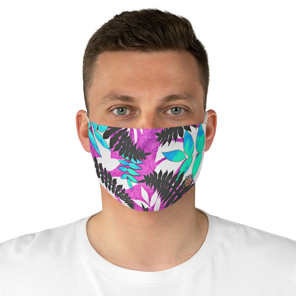 front male view Fern 2-Fabric Face Mask
