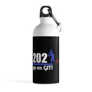 Go On GIT! 2020 • 14oz Stainless Steel Water Bottle • Kick • Red, White and Blue Fade - Maui Woke