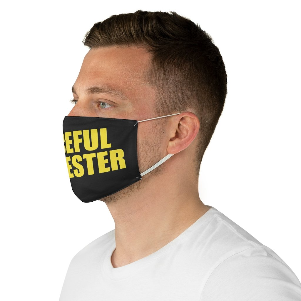 Political Meme Peaceful Protester • Black Fabric Face Mask 🔥 SALE⚡20% OFF - Maui Woke
