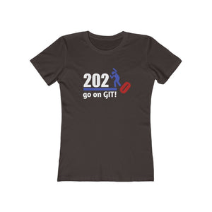 Go On GIT! 2020 Humorous BEST MEME 2020 • Stomp • Red White and Blue  • Women's Boyfriend Tee - Maui Woke
