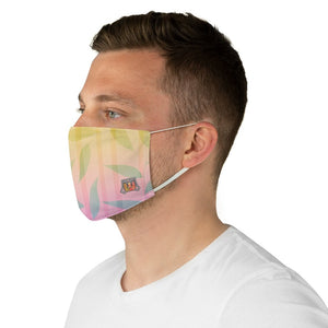 Casual Leaves Pattern • Gradient Yellow, Pink, Fabric Face Mask - Maui Woke
