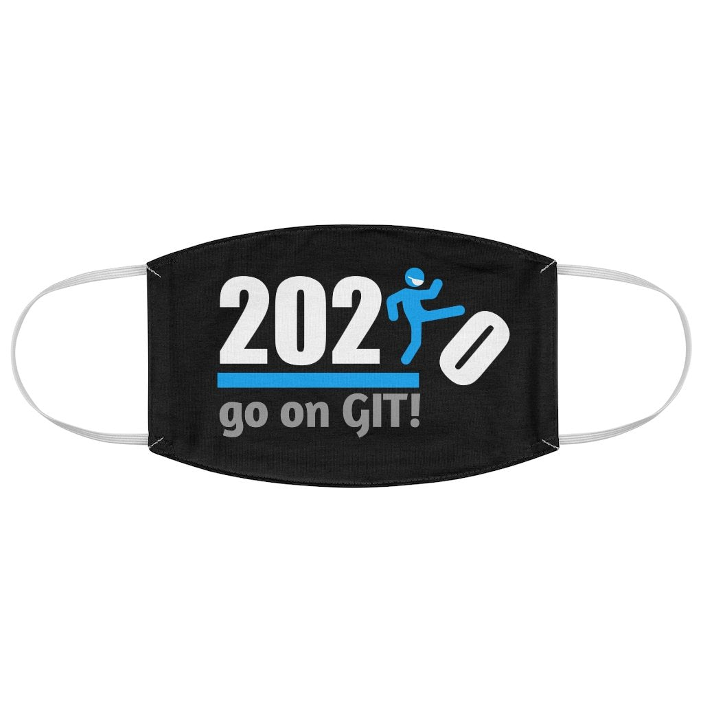 Go On GIT! 2020 • Kick • Blue • Black Fabric Face Mask - Maui Woke