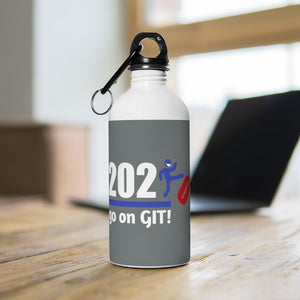 Go On GIT! 2020 • 14oz Stainless Steel Water Bottle • Kick • Red, White and Blue - Maui Woke