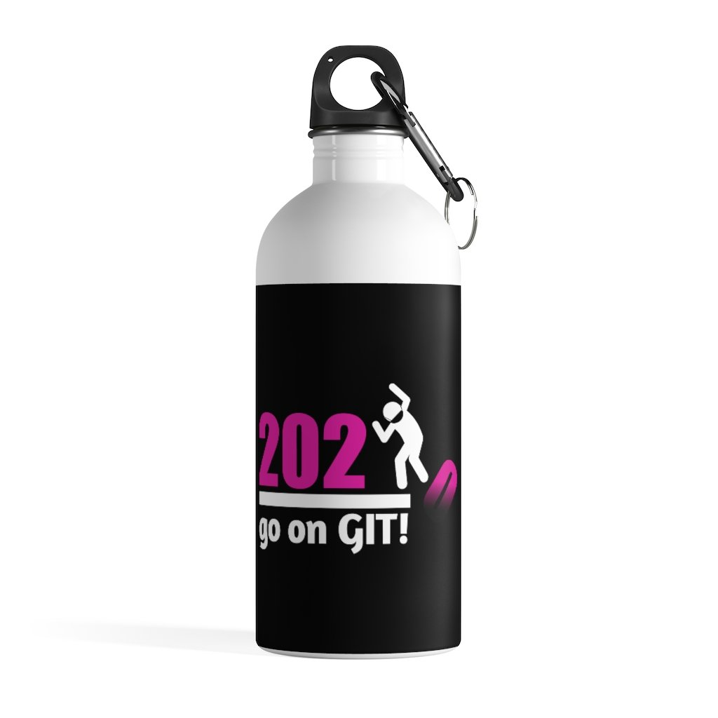 Go On GIT! 2020 • 14oz Stainless Steel Water Bottle • Kick • Pink and Black Fade - Maui Woke
